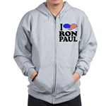 I Love Ron Paul Zip Hoodie