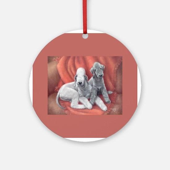 Bedlington Puppy Love Ornament (Round)