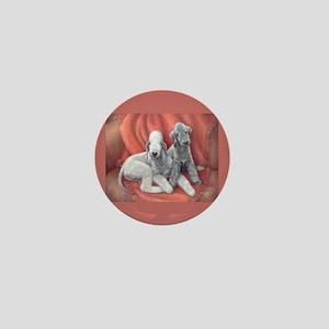 Bedlington Puppy Love Mini Button