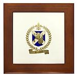 ROUSSEAU Family Crest Framed Tile