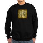 Celtic Letter K Sweatshirt (dark)