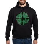 Celtic Four Leaf Clover Hoodie (dark)