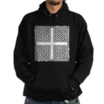 Celtic Square Cross Hoodie (dark)