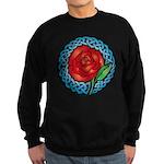 Celtic Rose Stained Glass Sweatshirt (dark)