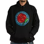 Celtic Rose Stained Glass Hoodie (dark)