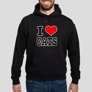 I Heart (Love) Cats Hoodie (dark)
