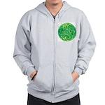 Celtic Triskele Zip Hoodie