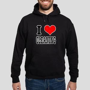 I Heart (Love) Cleaning Hoodie (dark)