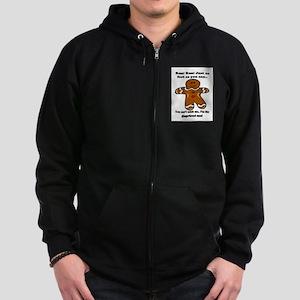 GINGERBREAD MAN! Zip Hoodie (dark)