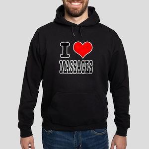 I Heart (Love) Massages Hoodie (dark)