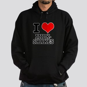 I Heart (Love) Milkshakes Hoodie (dark)