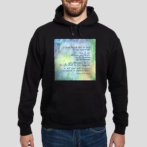 Inspirational Thoreau Quote Hoodie (dark)