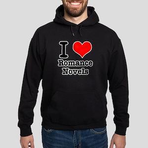 I Heart (Love) Romance Novels Hoodie (dark)