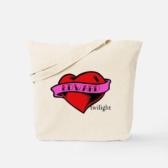 Edward Cullen Twilight Heart Tote Bag