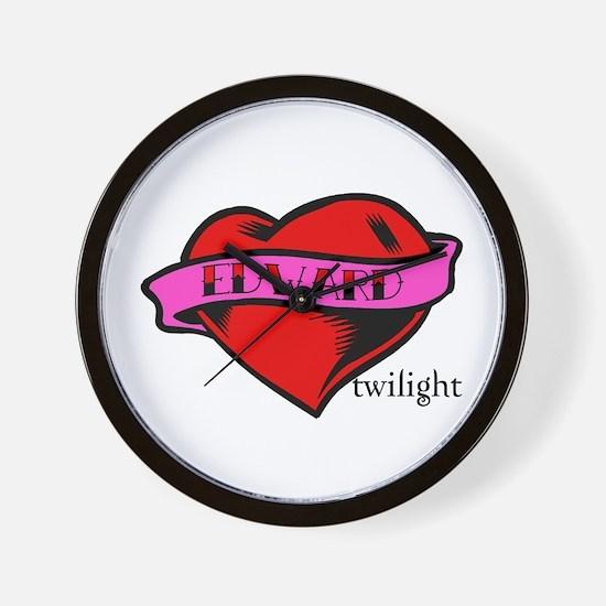 Edward Cullen Twilight Heart Wall Clock
