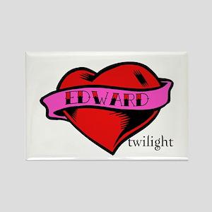 Edward Cullen Twilight Heart Rectangle Magnet