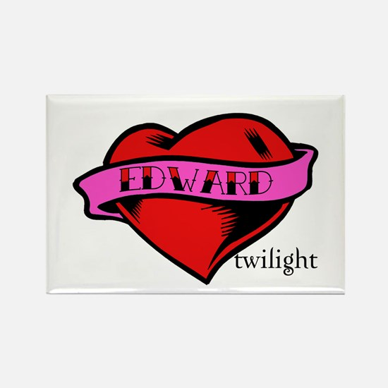 Edward Cullen Twilight Heart Rectangle Magnet