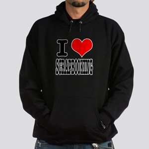 I Heart (Love) Scrapbooking Hoodie (dark)