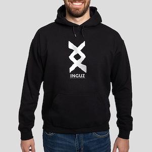 Viking Rune Inguz Hoodie (dark)