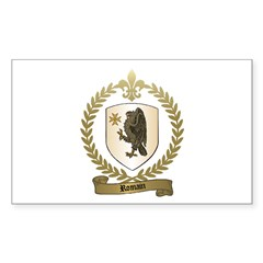 ROMAIN Family Crest Rectangle Decal