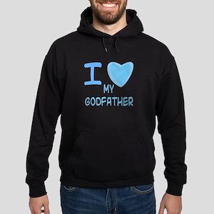 Blue I Heart (Love) My Godfat Hoodie (dark)