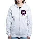 Nappy Headed Ho Purple Design Women's Zip Hoodie