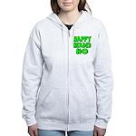 Nappy Headed Ho Green Design Women's Zip Hoodie
