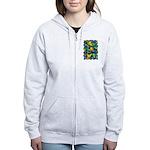 Leaf Mosaic Women's Zip Hoodie
