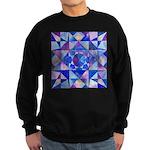 Blue Quilt Watercolor Sweatshirt (dark)