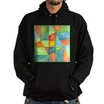 Color Square Abstract 1 Hoodie (dark)