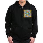 Sacred Geometry Watercolor Zip Hoodie (dark)