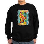 Autumn Quilt Watercolor Sweatshirt (dark)