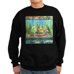 Tie Dye Turtle Watercolor Sweatshirt (dark)