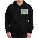 Early Frost Watercolor Zip Hoodie (dark)