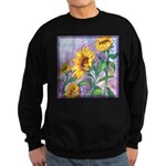 Sunny Sunflowers Watercolor Sweatshirt (dark)
