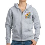 Sunny Sunflowers Watercolor Women's Zip Hoodie