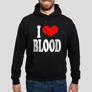 I Love Blood Hoodie (dark)