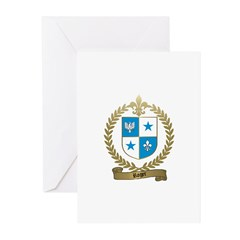 ROGER Family Crest Greeting Cards (Pk of 10)