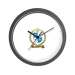 ROGER Family Crest Wall Clock