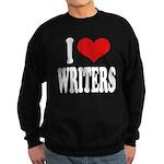 I Love Writers Sweatshirt (dark)