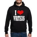 I Love Writers Hoodie (dark)