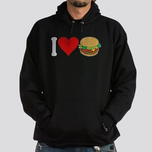 I Love Hamburgers (design) Hoodie (dark)