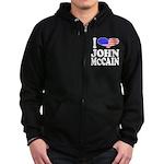 I Love John McCain Zip Hoodie (dark)