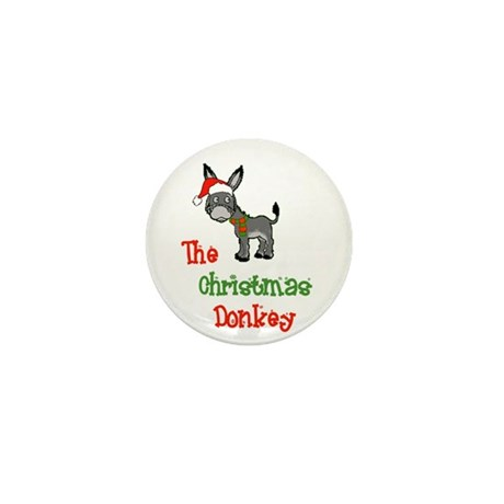 Christmas Donkey Mini Button (10 pack)