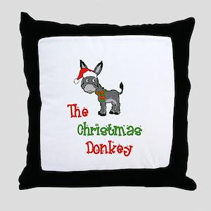 Christmas Donkey Throw Pillow