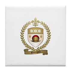 RODRIGUEZ Family Crest Tile Coaster