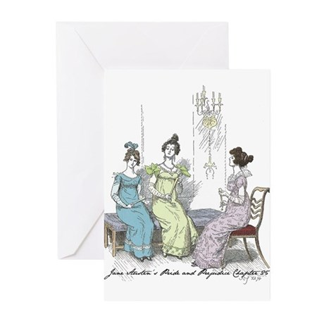 Pride & Prejudice Ch 25 Greeting Cards (Pk of 10)