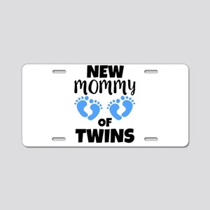 Mommy of Twins boys funny m Aluminum License Plate