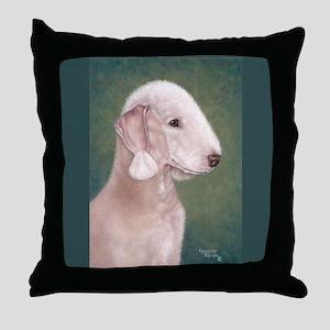 Bedlington (Liver) Throw Pillow