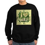 I Love Golf Sweatshirt (dark)